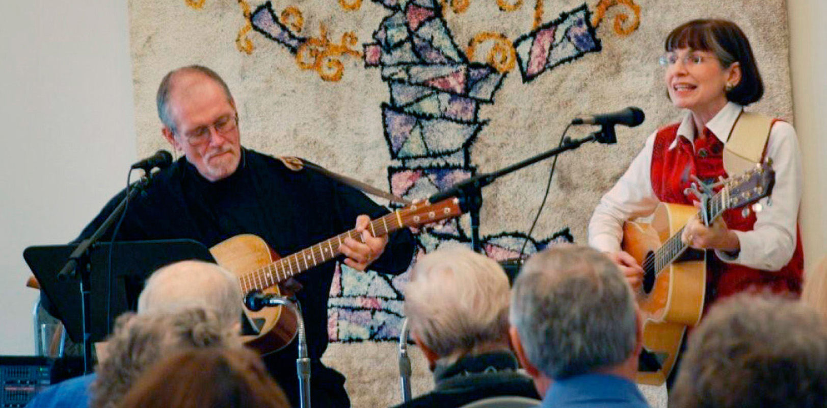 "Barry Roberts and Janice Rubin entertain the crowd at ""Daytimers."" 