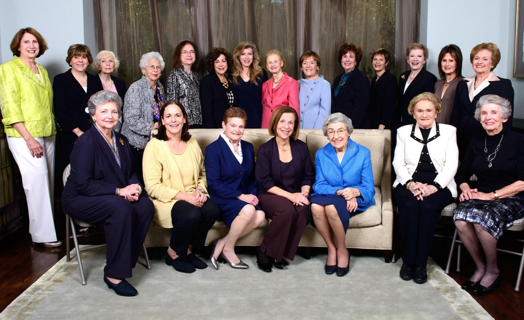 The National Council of Jewish Women Greater Dallas Section's centennial honorary host committee, comprised of the past section presidents, will be honored at the centennial luncheon Feb. 26. Sitting, from left, are Bette Miller, Sue Tilis, Julie Lowenberg, Joni Cohan, Pat Peiser, Katherine Bauer and Syl Benenson. Standing, from left, are Barbara Lee, Cheryl Pollman, Kyra Effren, Anita Marcus, Marlene Cohen, Jody Platt, current president Robin Zweig, Betty Dreyfus, Joy Mankoff, Phyllis Bernstein, Marsha Fischman, Brenda Brand, Janice Sweet and Kathy Freeman. Jeanne Fagadau, Darrel Strelitz and Maddy Unterberg are not pictured. | Photo: Lara Bierner Photography