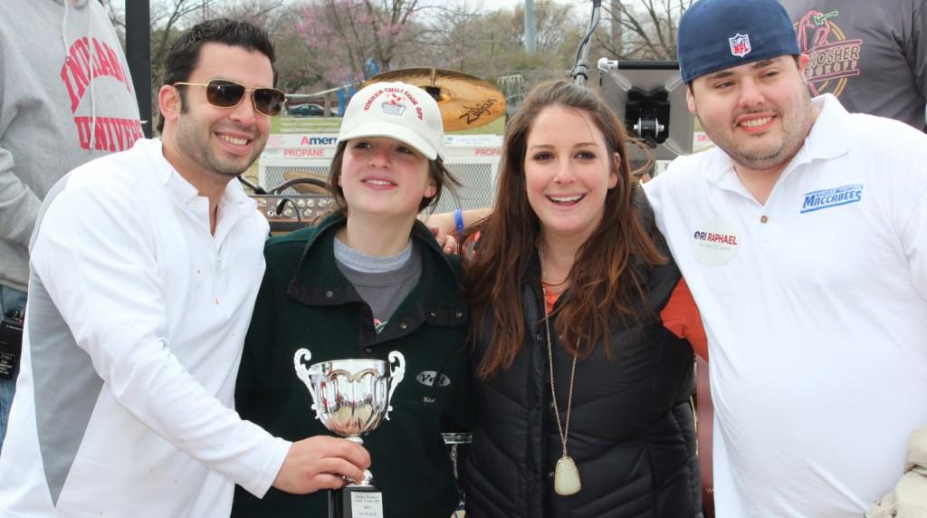 The winning Dallas Fighting Maccabees/YJAM team comprises, from left, Jonathan Tobolowsky, Rachael Abrams, Stephanie Arbetter and Aaron Gottlieb. | Photos: Rachel Gross Weinstein