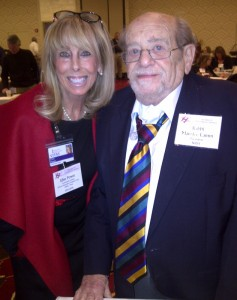 VITAS Innovative Hospice Care of Dallas community liaison Elise Power, with National Institute for Jewish Hospice president and founder Rabbi Maurice Lamm, served as a presenter at the 27th annual NIJH Conference. | Photo: VITAS