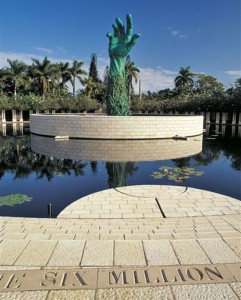 The Miami Holocaust Memorial's striking hand sculpture. | Photo: Courtesy of Holocaust Memorial of the Greater Miami Jewish Federation