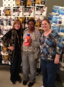 Gail Berlin, Joyce Dooley and Judi Massis Leventhal volunteered to help seniors shop and check out their purchases at this year's Funny Money store. | Photo: Courtesy Hedy Collins