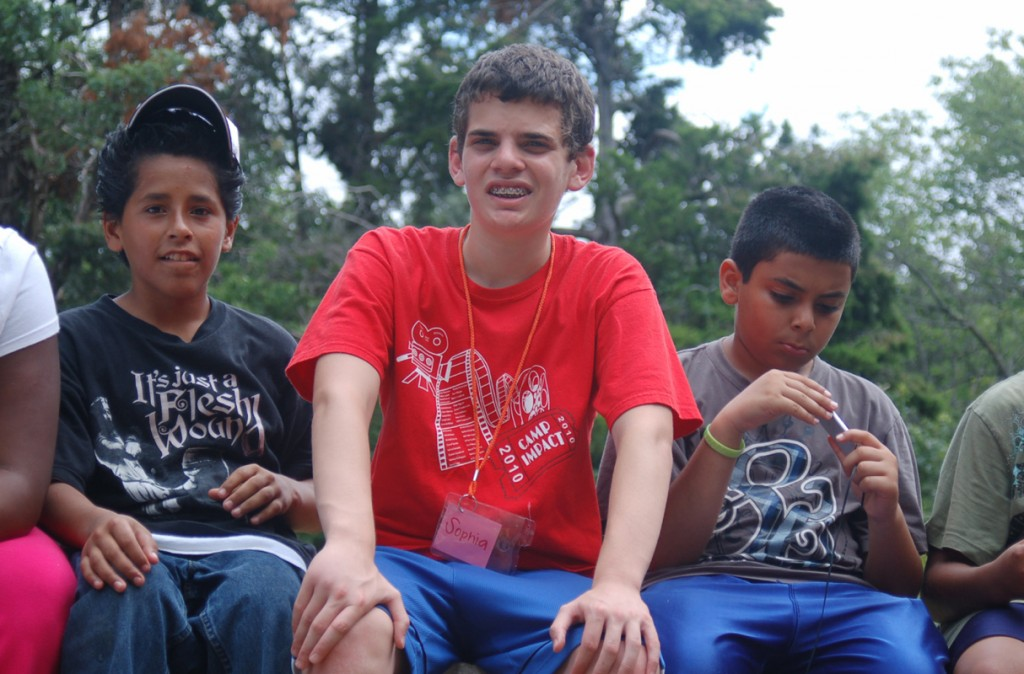 Counselor Jesse Friedensohn, center, spends time with campers during Camp Impact.   Photos: Submitted by Al Fratina