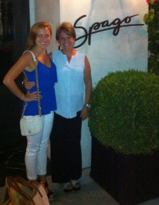 One stop on Gayle Solomon Biemeret and her daughter, Brittany's whirlwind LA trip earlier this month was Spago.                 Photo: Courtesy of Gayle Solomon Biemeret