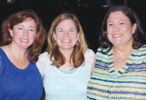Hard to believe 30 years have passed for the Trinity Valley School Class of '83. Pictured here at the TVS reunion July 13 are from left Linda Mesnik, Dana Cohen-Paine and Sharon Wisch-Ray. | Photo: Adam Sear