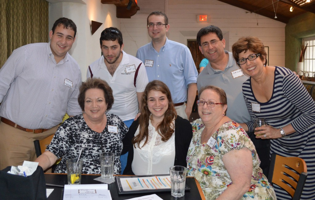 TAMU Hillel friends, alumni and students gathered at Blue Mesa in Addison on July 17 to meet Rabbi Matt Rosenberg, the new Hillel executive director in College Station. Shown here are seated, from left Trudi Herstein, Sarah Herstein and Debi Klein. Standing, from left, are Ben Deutsch, Jason Wise, Aaron Herstein, Jim Liston and Ellen Liston.