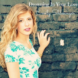 "The cover art for Emily Shlesinger's newest single on iTunes, ""Drowning in Your Love."""