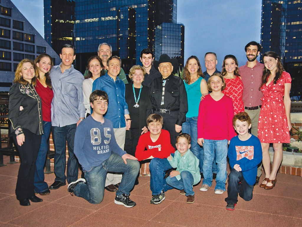 Photo: Ellen Appel The Cohens enjoyed a birthday dinner for Don Cohen at Reata in Fort Worth. The evening capped off The Don Cohen Friends & Family Reunion & Bike Ride. Pictured from left are front row Kevin Berk, Jeffrey Berk, Will Cohen, Sam Berk; second row, Dan Cohen, Judy Cohen, Don Cohen and Sarabelle Berk; third row, Dana Cohen-Paine, Dede Kaplan, Brian Kaplan, Jane Cohen, Amy Cohen, Steven Cohen, Joanna Kaplan, Andrew Kaplan and Gina Romano; and back row, Bill Paine and Ben Cohen.