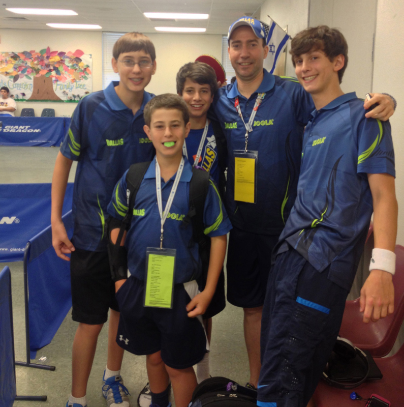 Table Tennis team members from left, Ethan Fisher, Oliver Steinberg, Charlie Weitz, Coach Daniel Rutenberg and Jonathan Ochstein.