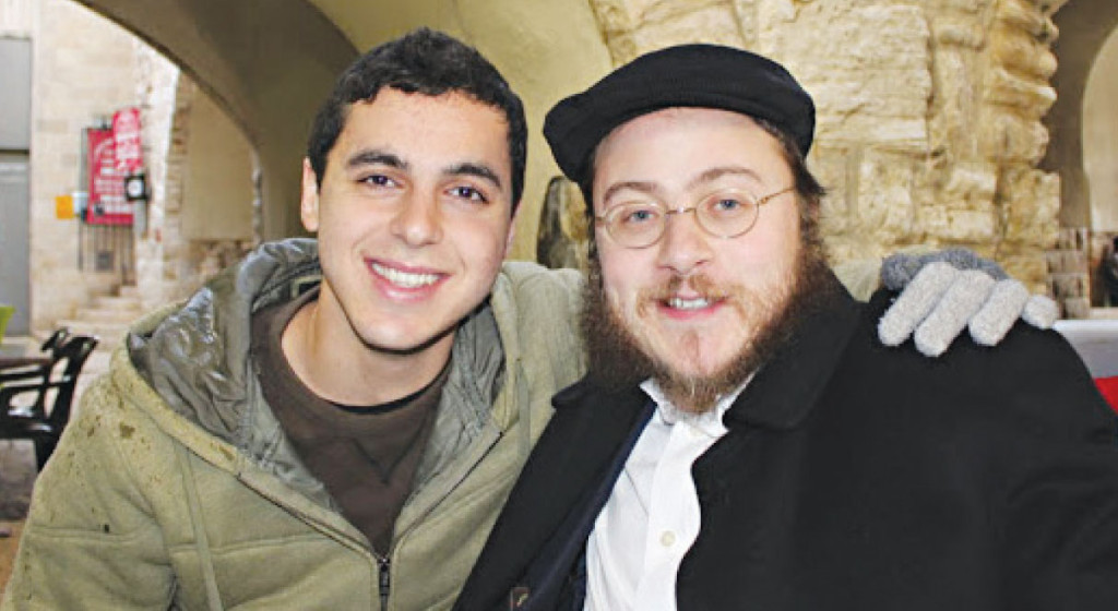 Sean Carmeli and Rabbi Asher Hecht, of Chabad of the Rio Grande Valley, met in the Old City of Jerusalem in 2012, before Carmeli went into the army.