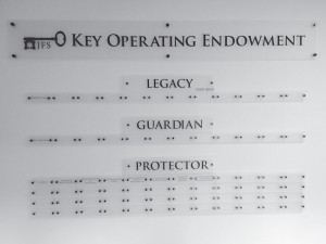 Jewish Family Services recently dedicated its donor wall for the Key Operating Endowment, which supports the agency's operating costs.   Photo: Courtesy of JFS