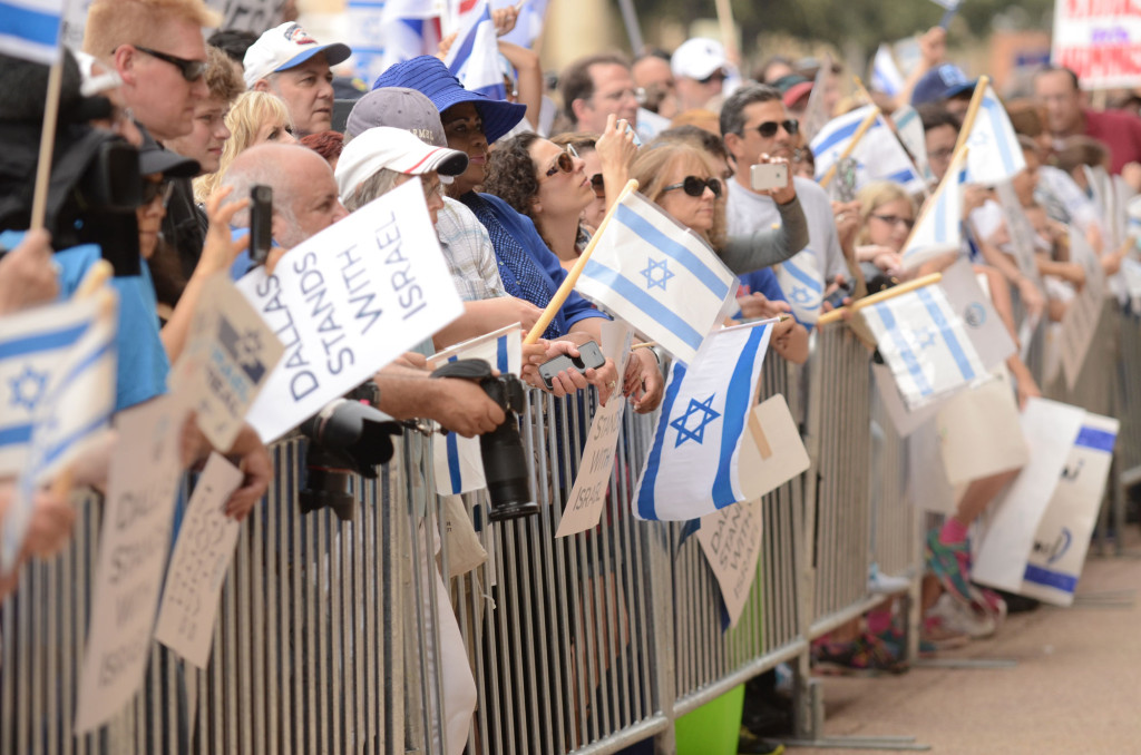 Nearly 2,000 people attended the Israel solidarity rally in downtown Dallas July 30. | Photos: Unless otherwise noted Winn Fuqua