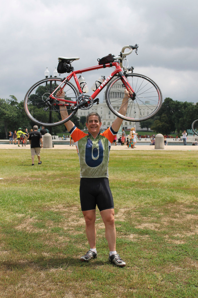 Terry Sigle is pictured in front of the U.S. Capitol in Washington D.C. after completing his 40-day, 3,300 mile bike ride across the country. | Photo: Submitted by Terry Sigle