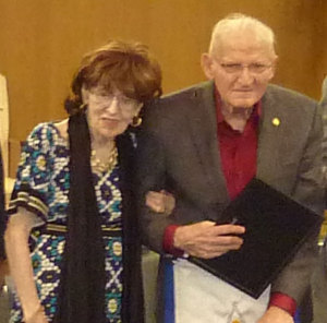 Joe Klein and his wife Hannah at his 50-year Master Mason ceremony Aug. 23.