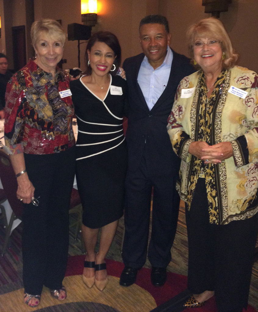 From left, Bnai Zion Texas Region Executive Director Avrille Harris, Covenant Church Colleyville Campus Pastors Cyd and Ricky Texada and Bnai Zion Texas Region President Diane Benjamin at the Sept. 7 Restored Hope Ministries event.