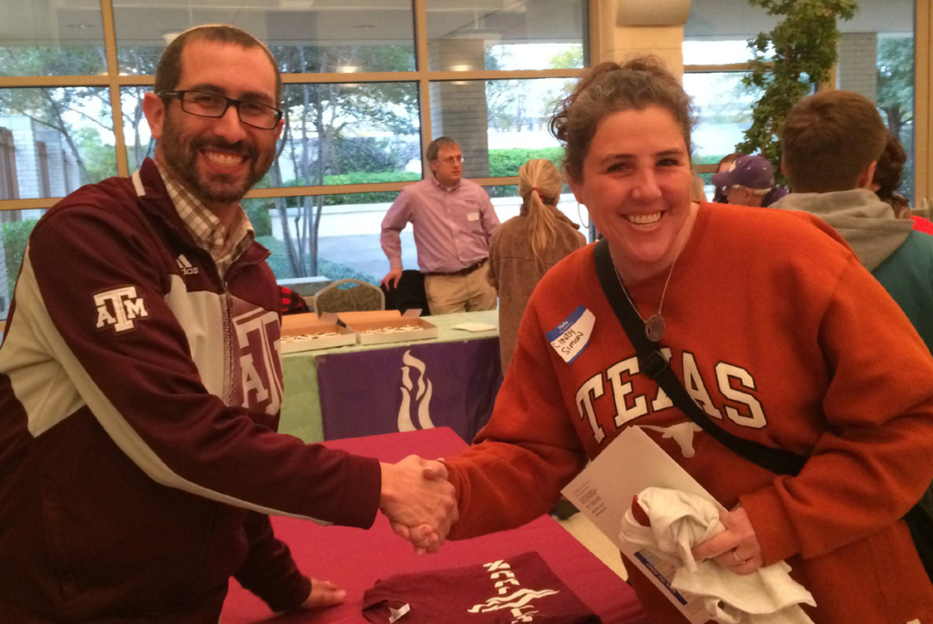 Texas A&M Hillel Executive Director Rabbi Matt Rosenberg and Cindy Simon | Photos: Courtesy Angie Kitzman