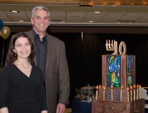 Rabbi Elana Zelony and Congregation Beth Torah President Alan Hoffman at the synagogue's 40th anniversary celebration Nov. 1. | Photo: DSPN photography/David Duchin