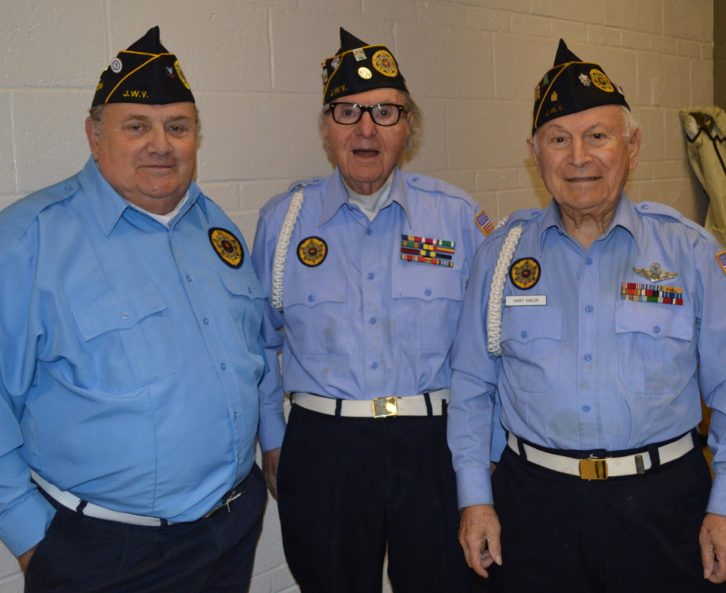 Pictured from left are Jule Bovis, Leon Rubenstein and Harry Kabler, members of the Dr. Harvey J. Bloom Dallas Post 256 of the Jewish War veterans.