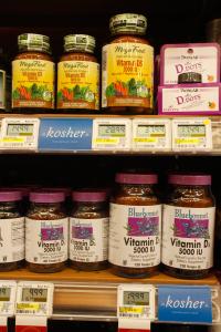 Kosher vitamins are also designated. | Photo: Richard Rodriguez