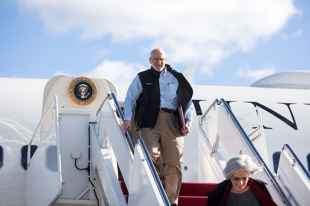 Jewish-American aid worker Alan Gross arrives at the Joint Base Andrews military facility in Maryland Dec. 17, 2014, the day he was freed after spending five years as a prisoner in Cuba. | Photo: White House photo by Lawrence Jackson.