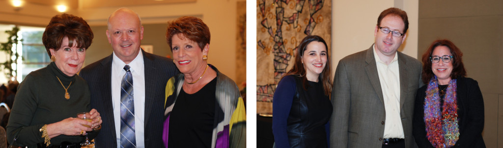 LEFT: Sandy Hollander, Beth-El Congregation Board President Eddie Feld RIGHT: Donor Brunch Chair Anna Caplan, Rabbi Jordan Ottenstein and Julie Lazarus