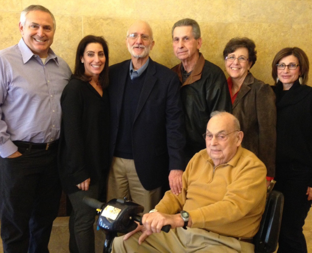 Marc Stanley, Wendy Stanley, Alan Gross, Harold Rubinstein, Jack Hillebrand, Bonnie Gross Rubinstein and Cindy Stanley