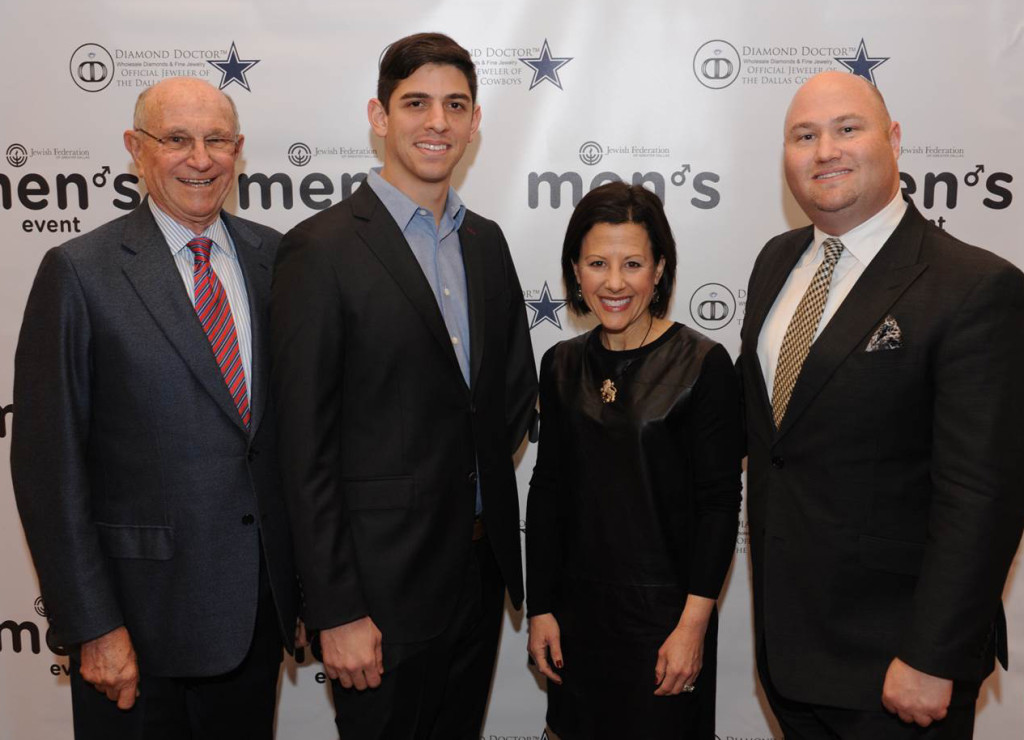 Left to right: Nate Levine, JFGD Annual Campaign chair; Izzy Ezagui, featured speaker; Cindy Sweet Moskowitz, JFGD Board chair; Bradley Laye, JFGD president and CEO | Photos: Winn Fuqua
