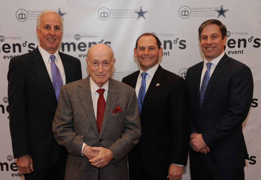 2015 JFGD Men's Event chairs, left to right: Allen Feltman, Bob Weinfeld, Steve Schachter and Paul Rubin