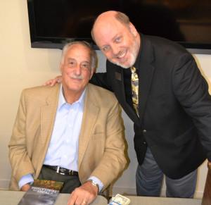 From left, Rabbi Emeritus Ken Roseman and Temple Shalom President Dennis Eichelbaum at Roseman's Feb. 22 presentation | Photo: Lisa Rothberg