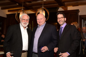 (From left) Previous DJCF Chairmen Larry Schoenbrun and Cary Rossel with current DJCF Chairman Rusty Cooper