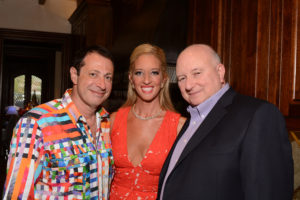 (From left) Semyon and Ilana Narosov, event hosts, with Cary Rossel, Ilana's father