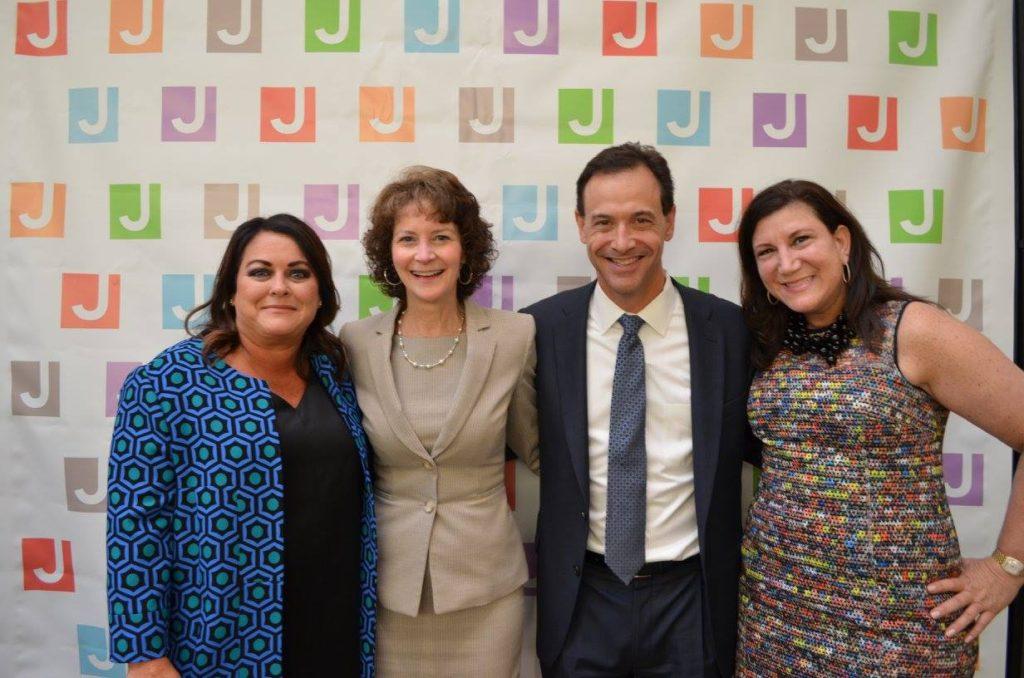 From left, Angela Aaron Horowitz,Lori Ordiway, David Greenstone and Jill Tananbaum