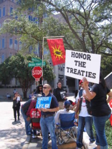 Photo: Jerry Kasten Protesters demonstrate in front of Dallas-based Chief Oil & Gas.
