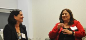 TJP Publisher and Editor Sharon Wisch-Ray served as the moderator for the interview of Match Group North America CEO Mandy Ginsberg.