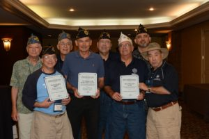 TALO members of the JWV display their awards received at the national convention in Savannah last month.