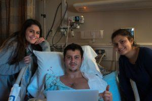 Ariel Berkowitz with his sisters