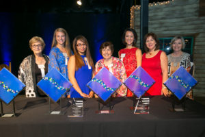 (From left) Ann Kahn, Ariana Luterman, Noely Rangel, Barbara Friedman, Tammy Nguyen Lee, Vanita Halliburton, Judy Rorrie