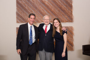 Photo: Stacie Kinney David Litman (left) and daughter Anna Litman with Warren Buffett