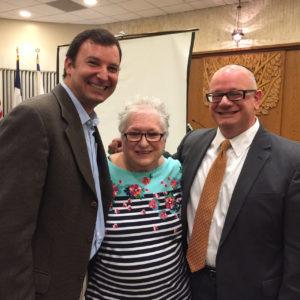 Texas State Representative Craig Goldman (Dist. 97), Debby Rice and Rabbi David Komerofsky