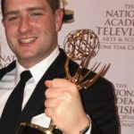 Blake Silverthorn holds his 2016 Lone Star Emmy he won as part of the Dallas Cowboys' Spanish program series Somos Cowboys (We Are Cowboys.)