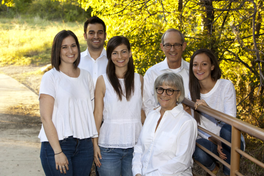 The Weinberg family has always stood behind each other, and when it comes to their wife and mother Wende – they couldn't glow more. (left to right) Adina, Gilad and Danielle Zubery, Rabbi Stefan, Jordana and (seated) Wende Weinberg.