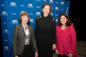 (From left) ADL Regional Board Chair Marcy Helfand, Carol Glendenning, ADL Regional Director Cheryl Drazin