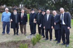 Cyril Sulski, Rabbi Menachem Block (Chabad of Plano), Bill Finkelstein, Rabbi Howard Wolk (JFS community chaplain), Rabbi Daniel Ringelheim (Texas Torah Institute), Rabbi Eliyahu Kaufman(Texas Torah Institute), Rabbi Yehuda Abrams (DATA COO), Rabbi Eli Nissel (DATA of Plano) and Rabbi Ezra Sarna (Ohr HaTorah).