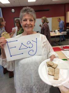 Jo-Sandra Greenberg displays her winning recipe… and smile.