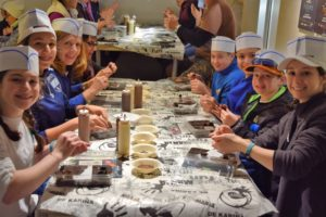 Photo: Adam Kaplan The Temple Shalom group spent time at a chocolate factory.