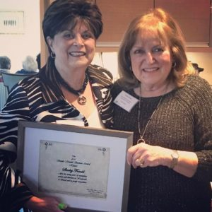 Submitted photo (From left) Barbara Moses and Shirley Frankl, the 2015 and 2016 Sarah Mendel Susman Award recipients