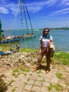 In Cochin, in front of Chinese fishing nets