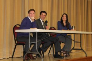 Meet the Press panelists (from left) Jay Gormley, Jack Fink and Gina Miller