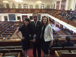 Assistant Regional Director Cassie Squires, Edward Retta, Sophia Stoller