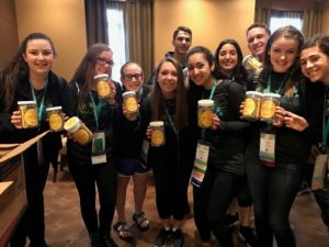 Submitted photo A group of international BBYO participants with bottles of smiles, an idea created at a past convention